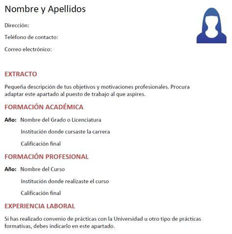 Plantillas De Curriculum Vitae Para Estudiantes Experiencia Ejemplos De Curriculum Vitae Para Estudiantes Modelo