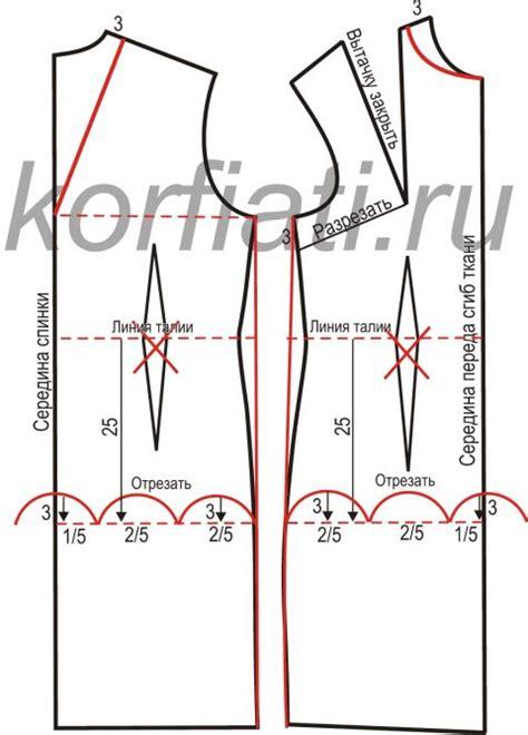 pattern maker jpg выкройка прямого платья без рукавов моделирование