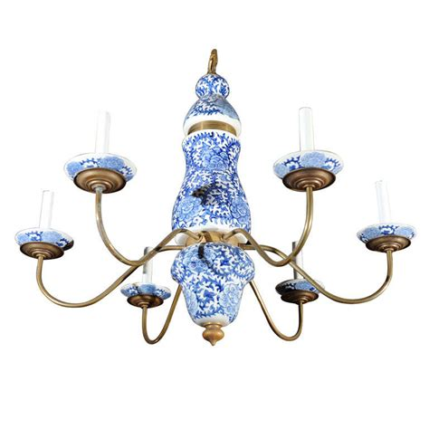 Blue And White Chandelier Baroque Style Blue And White Chandelier At 1stdibs