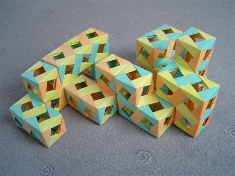 Origami Puzzle Box - modular origami miscellaneous models folded by micha蛯