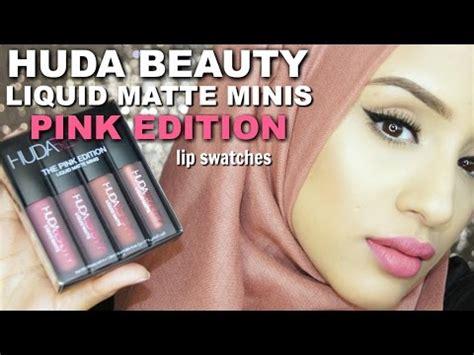 swatches huda pink edition liquid matte lipstick