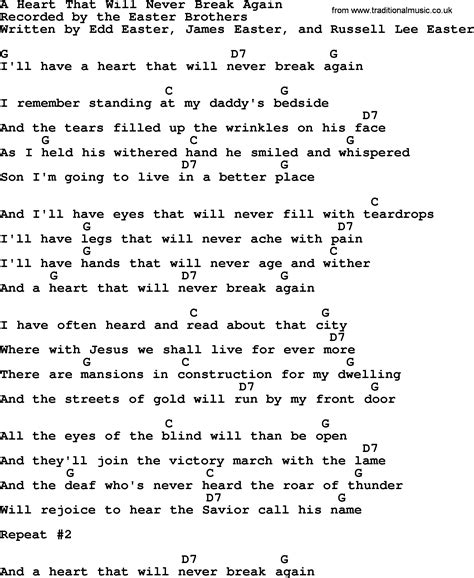 a that will never again bluegrass lyrics