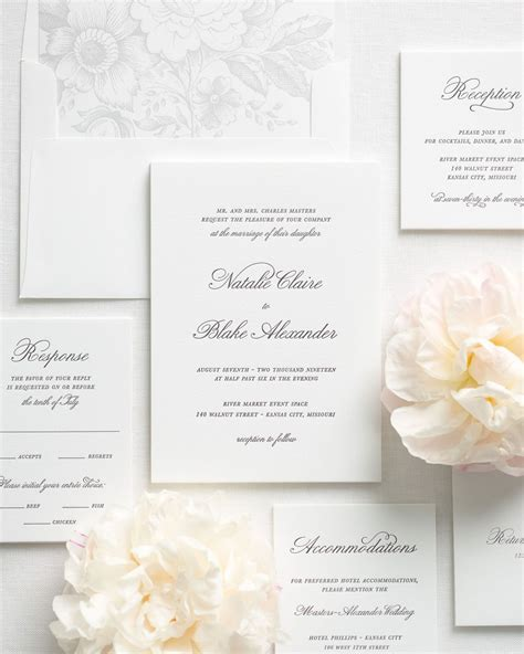 Wedding Invitations Letterpress by Classic Script Letterpress Wedding Invitations
