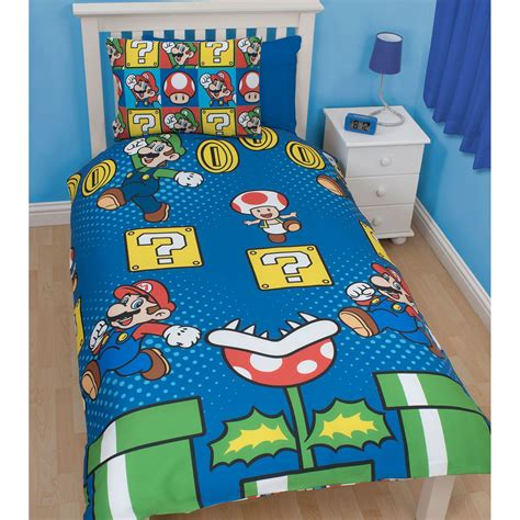 nintendo bedding nintendo super mario jump single duvet cover and