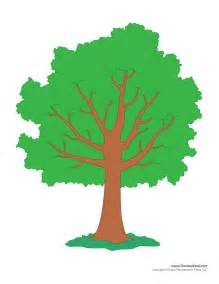 Tree Outline Green by Tim De Vall Comics Printables For