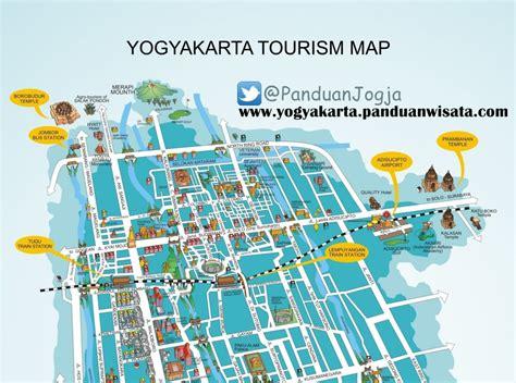 peta turisme yogyakarta wisata yogyakarta