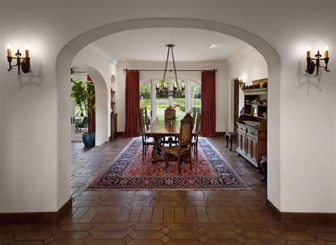 Mediterranean Dining Room Colonial Mediterranean Dining Room Santa Barbara By Dd Ford Construction