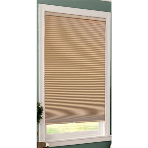 Cordless Cellular Blinds Shop Allen Roth Khaki Blackout Cordless Polyester