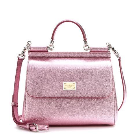 Dg Dolce Gabbana Metallic Shopper by Dolce Gabbana Sicily Metallic Leather Tote In Pink Lyst