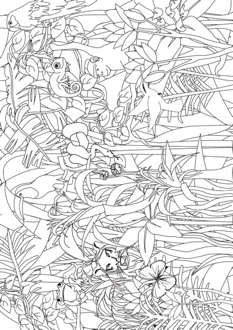 jungle themed coloring pages jungle coloring search for pre k and kindergarten kids