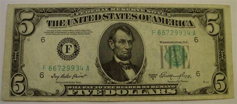 china 5 dollar bill 5 silver certificate federal reserve notes 1934 1950