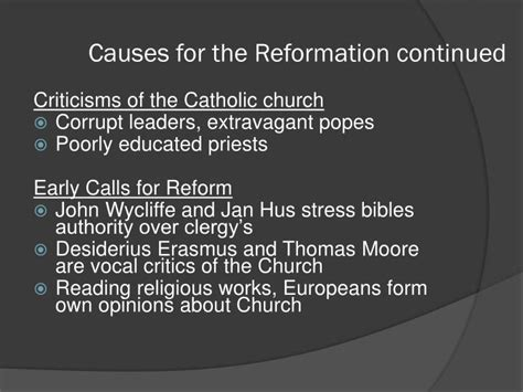 the reformation chapter ppt download ppt luther leads the reformation powerpoint presentation id 482119
