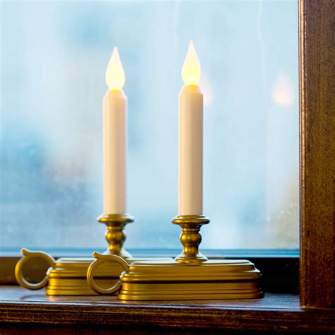 window candle lights with timer lights com flameless window white 9