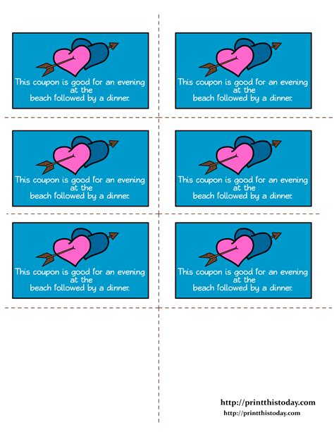 free printable dirty love coupons for him romantic love coupons