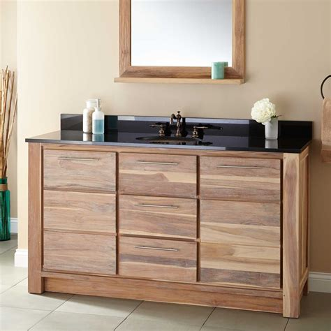single sink vanity 60 quot venica teak single vanity for undermount sink