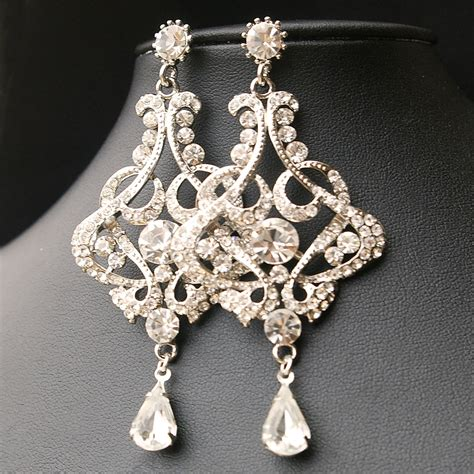 Earring Chandelier Chandelier Wedding Earrings Vintage Style Bridal