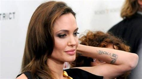 angelina jolie tattoo roman numeral angelina jolie s 15 tattoos their meanings body art guru