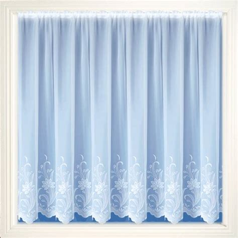 embroidered voile curtains uk wexford white embroidered voile net curtain 2 curtains
