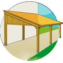 Garage With Carport by Construire Et Fixer Un Carport