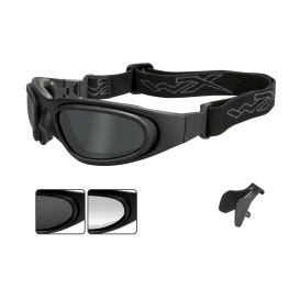 wiley x sg 1 glasses/goggles matte black asian fit frame