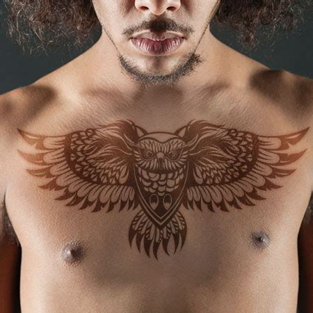 owl chest tattoos for men 35 flying owl tattoos for
