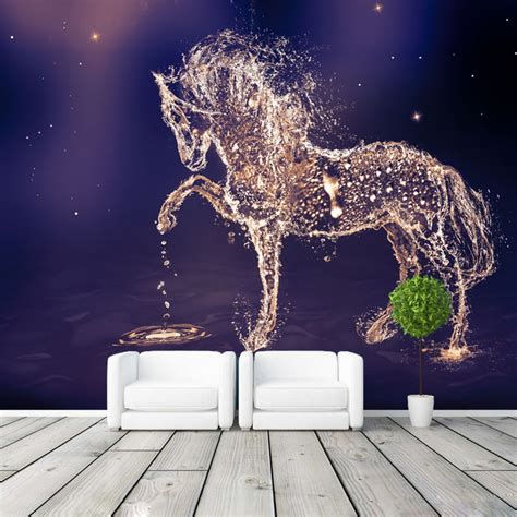 galaxy bedroom wallpaper fantasy horse photo wallpaper custom wall mural charming