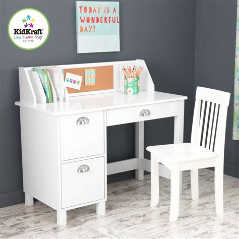 kidkraft study desk with side drawers white 26704 kidkraft 26704 children s wood study desk chair w