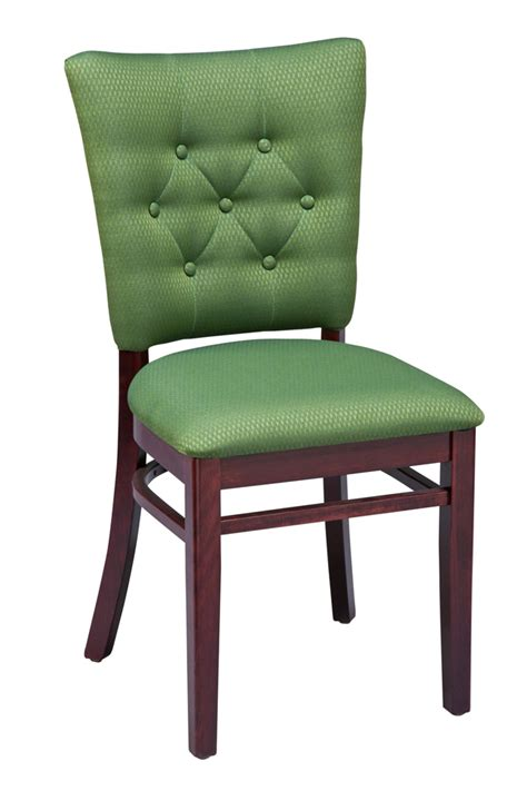 Dining Chairs Upholstered Seat Regal Seating Series 420 Wooden Commercial Dining Chair With Upholstered Seat And Tufted Back