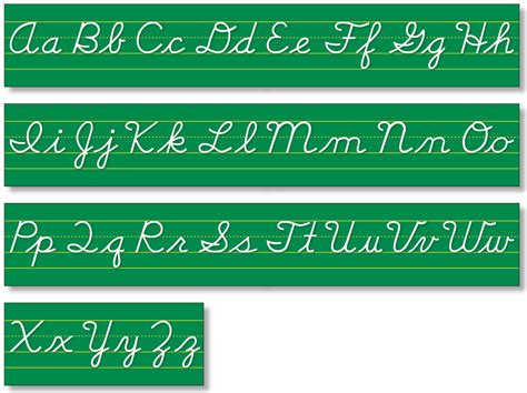 printable cursive alphabet banner north star teacher resources alphabet lines