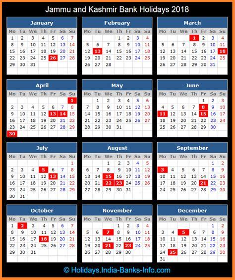 bank holidays usa jammu and kashmir bank holidays 2018 india bank holidays