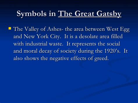 symbolism in the great gatsby the valley of ashes gatsbyreview