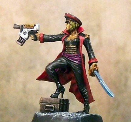 female commissar, imperial commissar, imperial guard