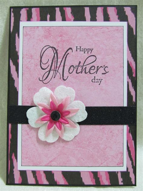 Mothers Day Handmade Cards - savvy handmade cards pink zebra s day card