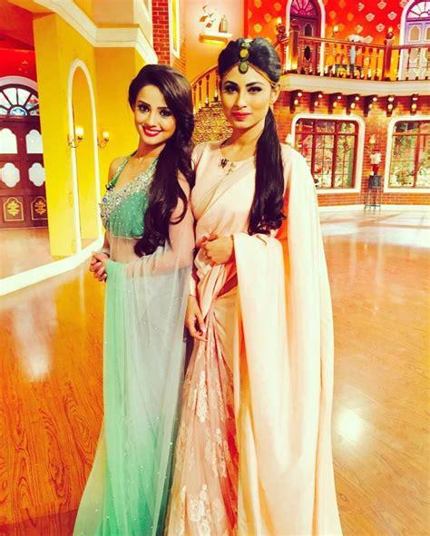 nagin 2 serial moni roy sari hd image revealed mouni roy and adaa khan first look from naagin