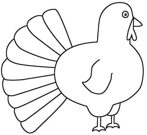 coloring pages of turkeys for preschool coloring page of a turkey for preschool coloring home