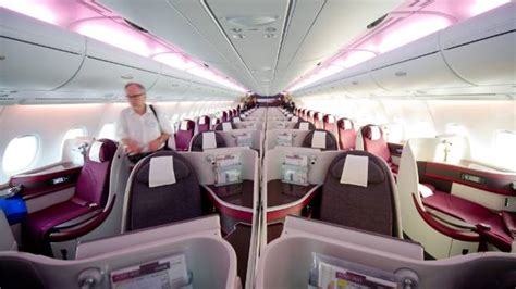 Qatar A380 Cabin by Qatar Airways Receives Its Airbus A380 Superjumbo