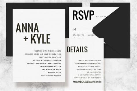 Modern Minimalist Printable Wedding Invitation Set Wedding Invitation Template For Word Wedding Invitation Templates For Mac