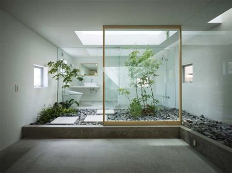 Zen Decorating by Japanese Style Zen Bathroom With Courtyard Interior