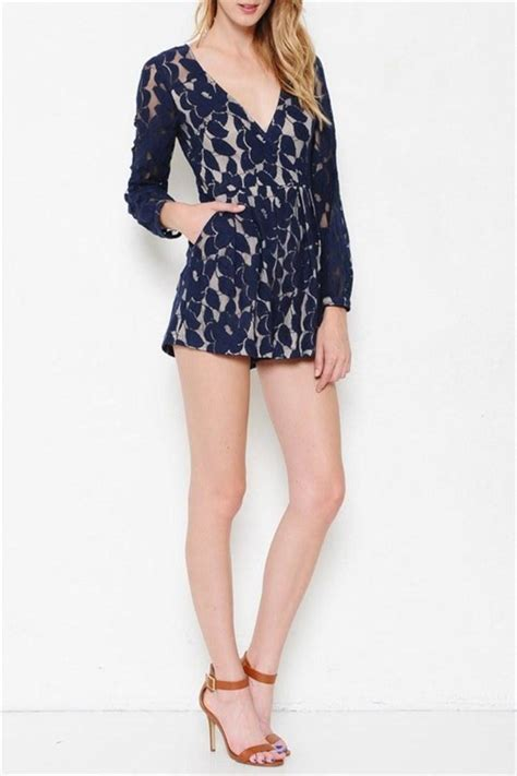 Romper Navy navy lace romper from laredo by dollz boutique shoptiques