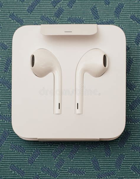 iphone 7 plus dual unboxing new apple earpods airpods in editorial photo image 77632806