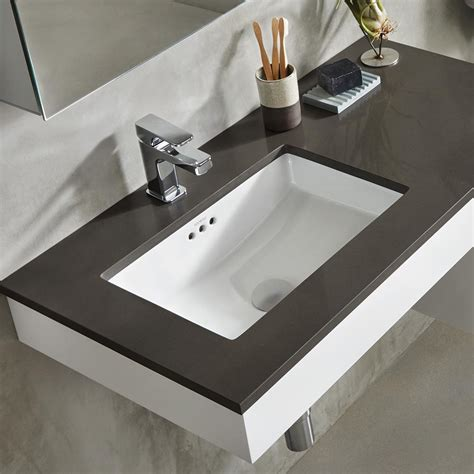 undercounter bathroom sink 19 quot essence rectangular ceramic undermount bathroom sink