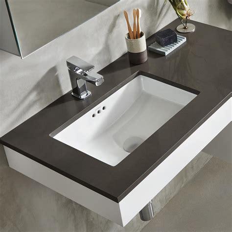 undermount bathroom sink 19 quot essence rectangular ceramic undermount bathroom sink