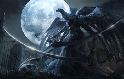 wallpaper night weapons  moon art braid monster