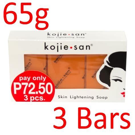 kojie san skin lightening kojic acid soap 3 bars 65g