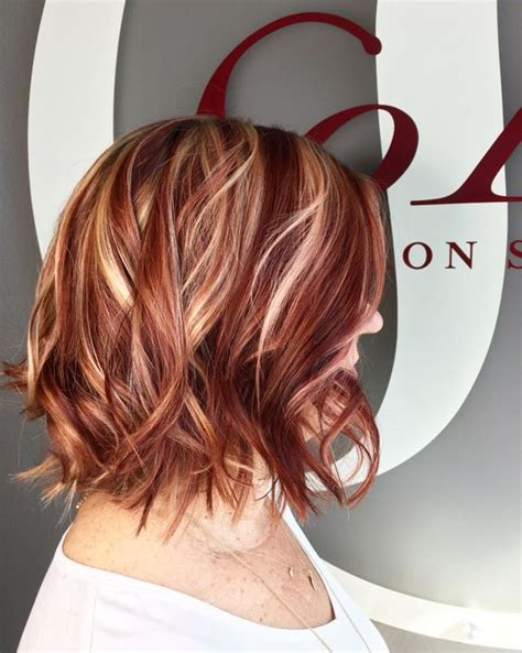 hairstyles blonde and red highlights red highlights ideas for blonde brown and black hair