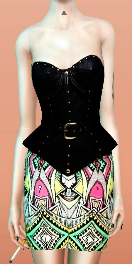 mf sims mf sims 4 corset dresses