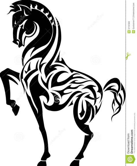 wallpaper black white tattoo horse flame tattoo stock photography image 37191902