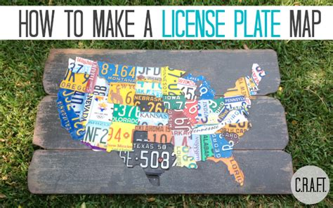 diy license plate map update c r a f t