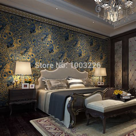 home design 3d gold video modern peacock wallpaper paper wall paper 3d roll gold