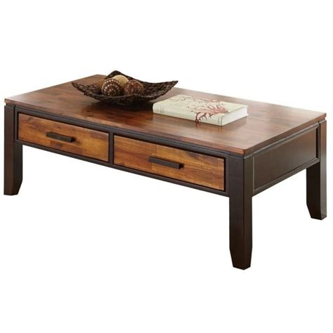 steve silver company abaco rectangular wood top coffee
